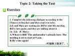 topic 2 taking the taxi13