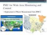 pmu for wide area monitoring and control1