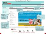 edit your document page 1