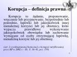 korupcja definicja prawna