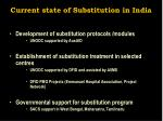 current state of substitution in india