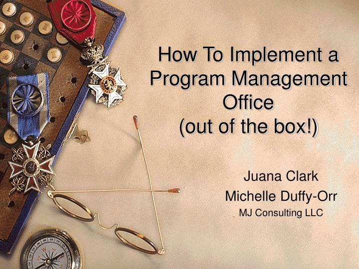 how to implement a program management office out of the box n.