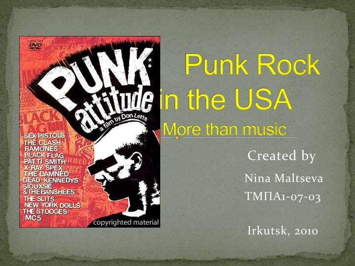 punk rock in the usa more than music n.