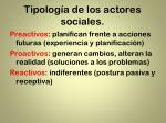 tipolog a de los actores sociales