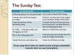 the sunday test
