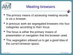 meeting browsers