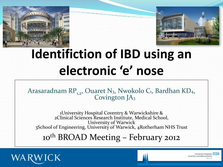 identifiction of ibd using an electronic e nose n.