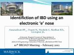 identifiction of ibd using an electronic e nose