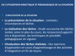 de l utilisation didactique et pedagogique de la situation1