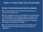 sens et fonctions des situations1