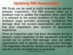 updating rbi assessment