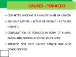 causes tobacco
