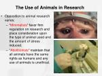 the use of animals in research1
