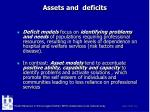 assets and deficits