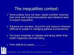 the inequalities context