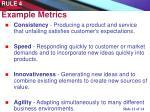 example metrics