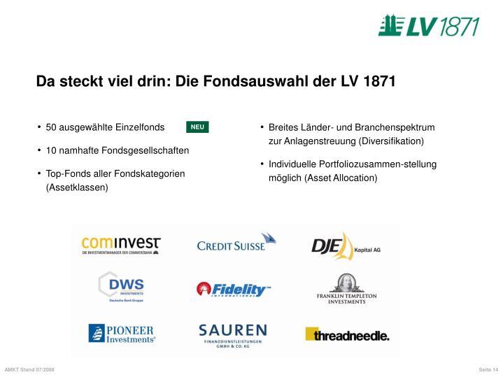 Da steckt viel drin: Die Fondsauswahl der LV 1871