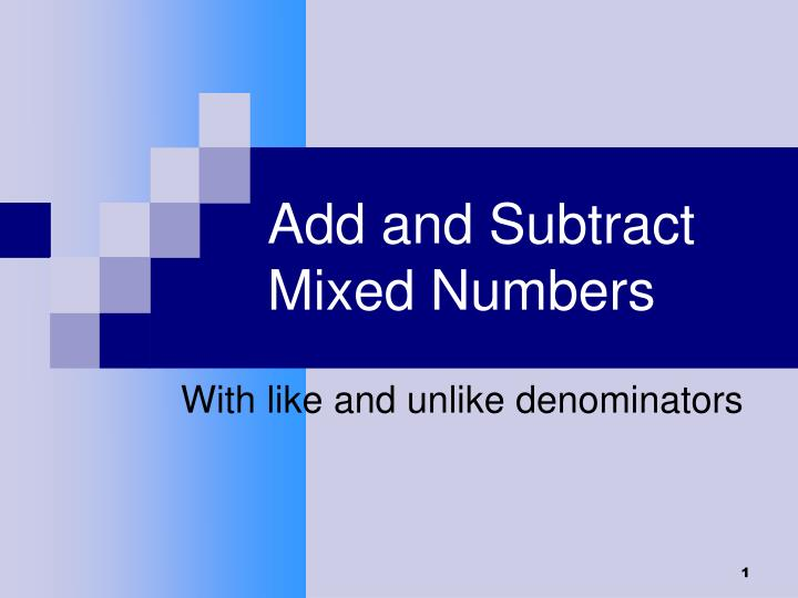 add and subtract mixed numbers n.