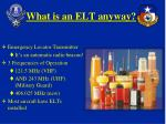 what is an elt anyway