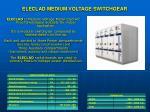 eleclad medium voltage switchgear