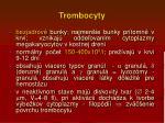 t rombocyty