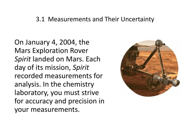 3 1 measurements and their uncertainty
