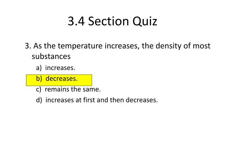 3.4 Section Quiz