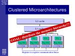 clustered micro architectures