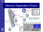 memory dependent chains