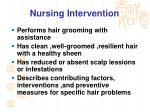 nursing intervention