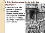 1 principais causas do decl nio das oligarquias