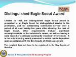 distinguished eagle scout award