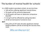 the burden of mental health for schools