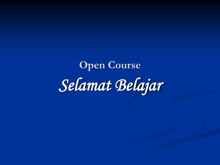 open course n.
