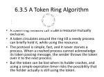 6 3 5 a token ring algorithm