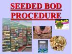 seeded bod procedure