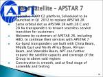 new satellite apstar 7