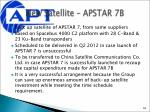 new satellite apstar 7b