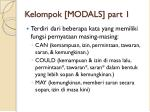 kelompok modals part 1