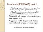 kelompok modals part 3