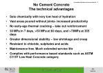 no cement concrete the technical advantages