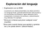 exploraci n del lenguaje