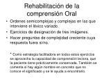 rehabilitaci n de la comprensi n oral