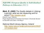 equipe european quality in individualised pathways in education 2002 5