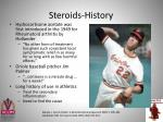 steroids history