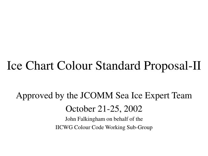 ice chart colour standard proposal ii n.