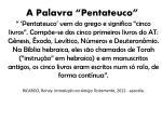 a palavra pentateuco