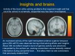insights and brains