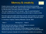memory creativity
