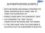 authentication contd